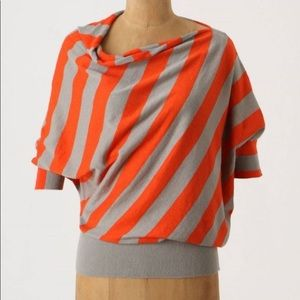 Anthropologie moth orchard grove striped pullover